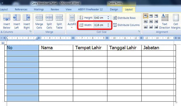 Cara Membuat Tabel Di Office Word (6)