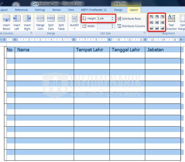 Cara Membuat Tabel Di Office Word (8)