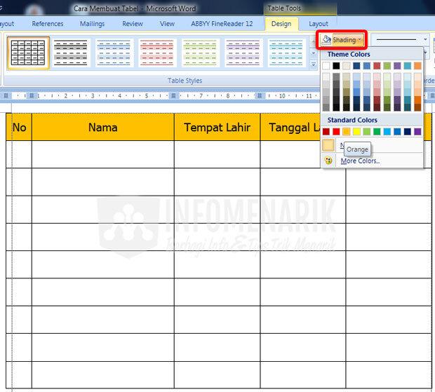 Cara Membuat Tabel Di Office Word (9)