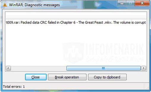 Trik Mantab 3 Cara Memperbaiki File RAR Rusak / Corrupt (Diagnostic