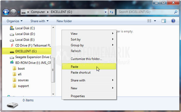 cara membuat installer windows 7 di flashdisk dengan cmd