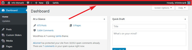 Cara Menampilkan Admin Bar WordPress Yang Tidak Muncul Setelah ...