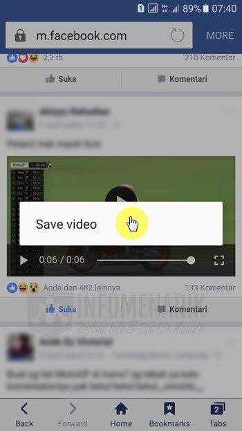 Cara Download Video Di Facebook Dengan Android Tanpa Aplikasi Info Menarik