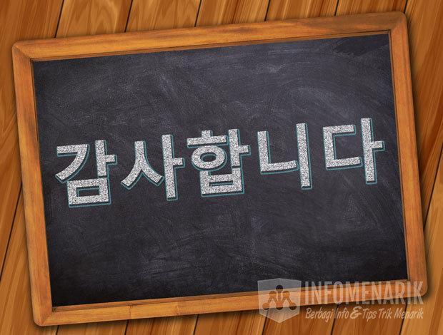Bahasa Korea Terima Kasih