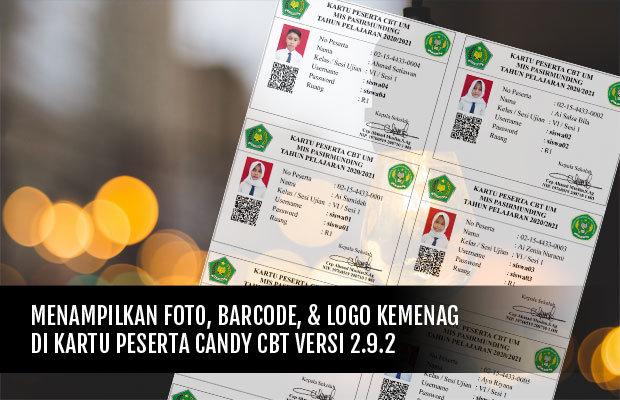 Cara Menampilkan Foto, Barcode, dan Logo Kemenag 01