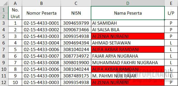 Cara Menemukan Dan Menghapus Data Ganda Di Excel 10