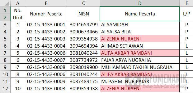 Cara Menemukan Dan Menghapus Data Ganda Di Excel 5