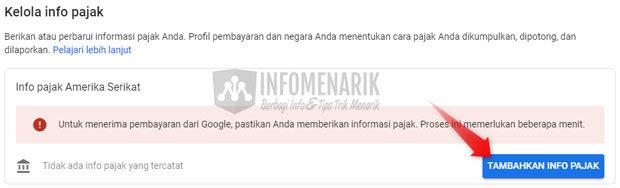 Cara Mengisi Informasi Pajak Google AdSense 3