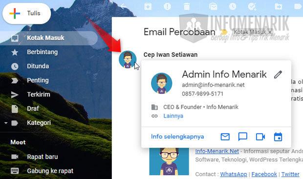 Cara Menambahkan Foto Profil di Email Domain 2