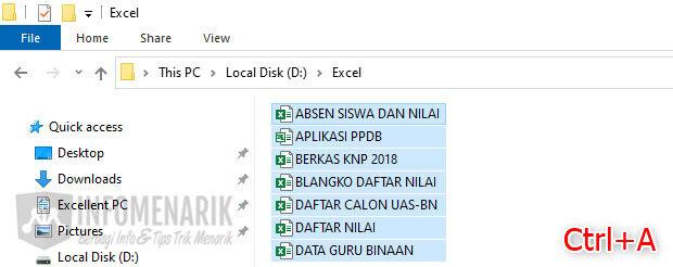Trik Bekerja Cepat di Excel 2
