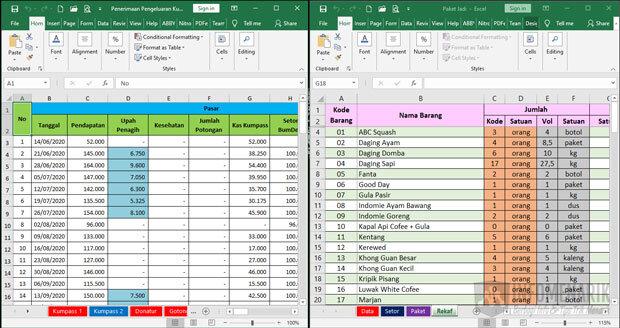 Trik Bekerja Cepat di Excel 5