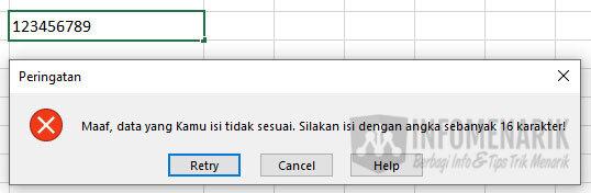 Trik Bekerja Cepat di Excel 8
