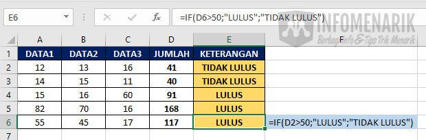 Fungsi Dasar Excel 4