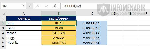 Fungsi Dasar Excel 7