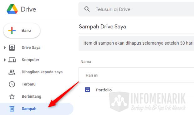 Cara Mengembalikan File di Google Drive 2