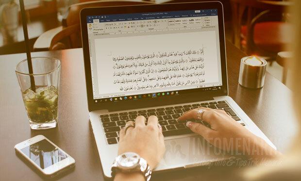 Cara Mengetik Huruf Arab di Word 1